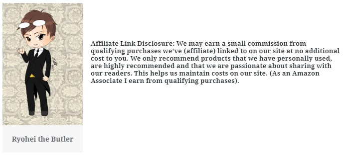 Affliate Link Disclosure:  We may earn a small comission from qualifying purchases for products linked on the site.  We only recommend products that we personally use and highly recommend.  This helps us maintain costs on our site.